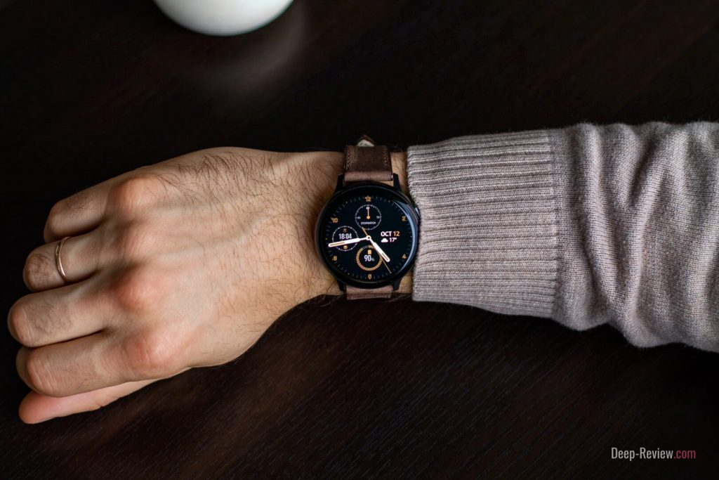 как выглядят часы Galaxy Watch Active 2 (44 мм) на руке