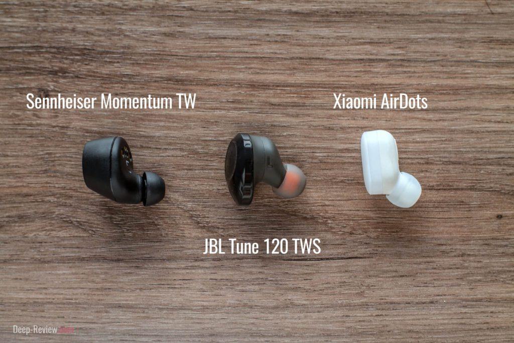 JBL Tune 120 vs Sennheiser Momentum TW vs Xiaomi AirDots