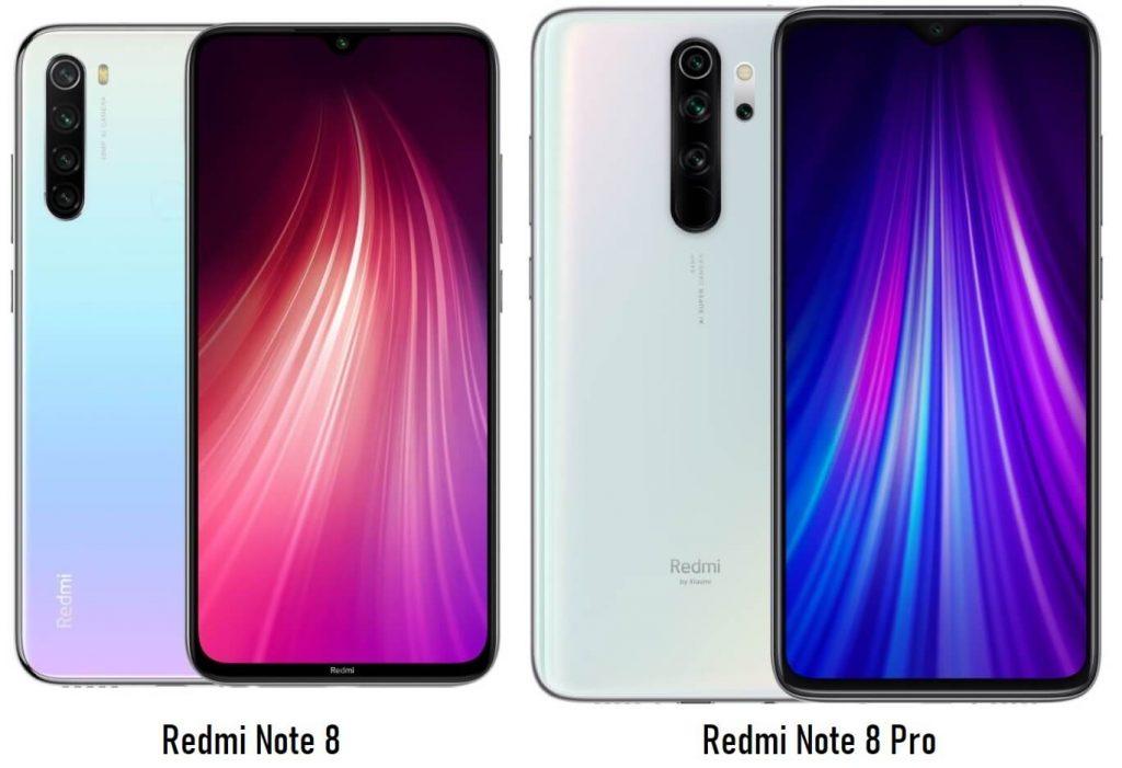 сравнение Redmi Note 8 и Redmi Note 8 Pro