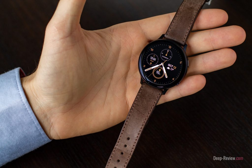 galaxy watch active 2 с кожаным ремешком