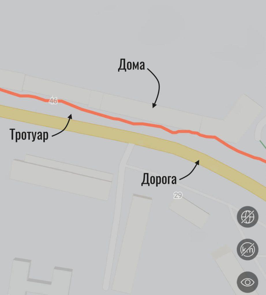маршрут по GPS в часах Amazfit GTS