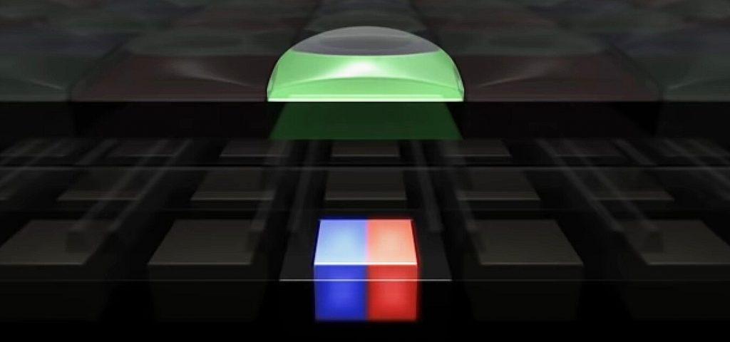 структура одного dual pixel пикселя на матрице камеры