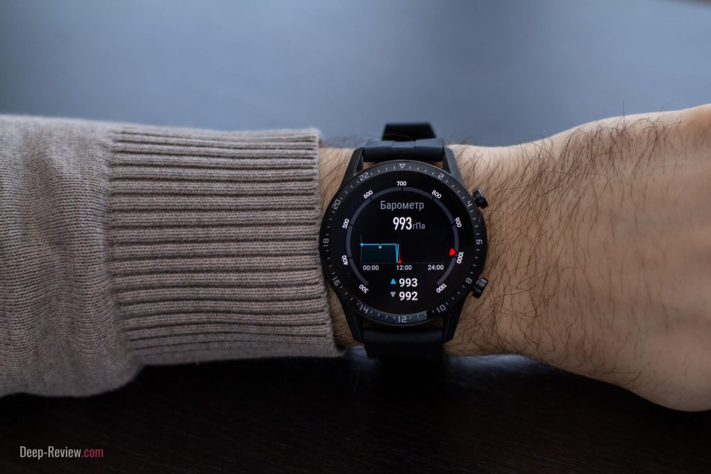 барометр на часах watch gt2