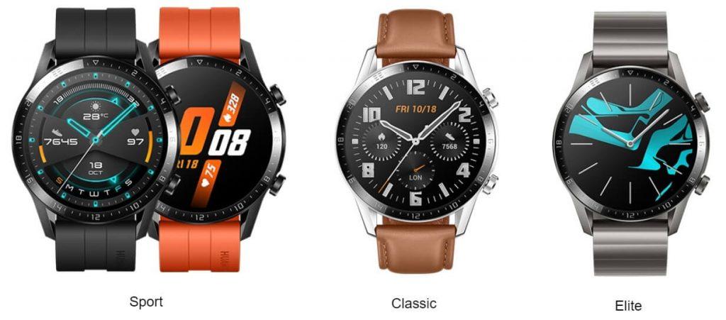 варианты дизайна Huawei Watch GT 2 в размере 46 мм