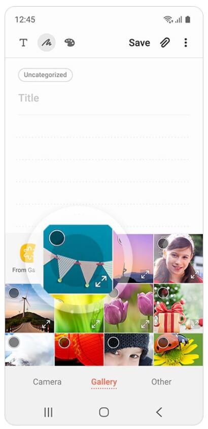 скриншот 1 приложения Samsung Notes