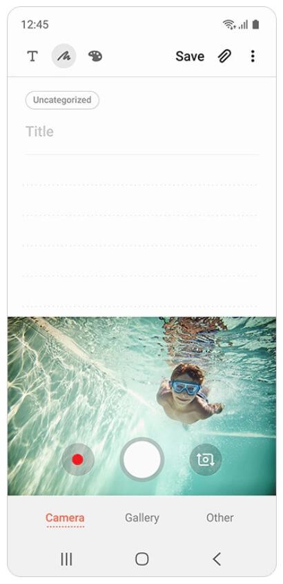 скриншот 2 приложения Samsung Notes