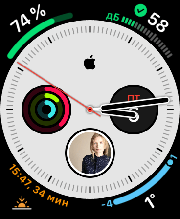 циферблат инфограф Apple Watch 5