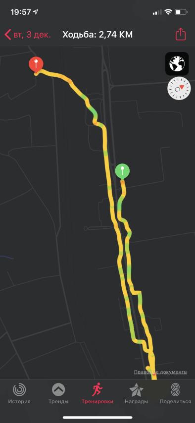 маршруты тренировок