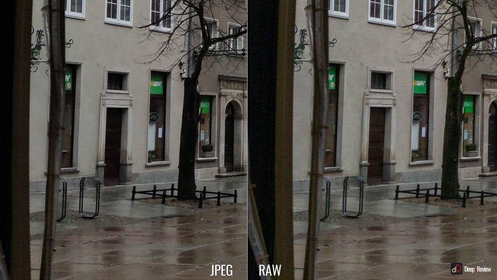 кроп сравнения снимков в RAW и JPEG на камеру Xiaomi Mi Note 10