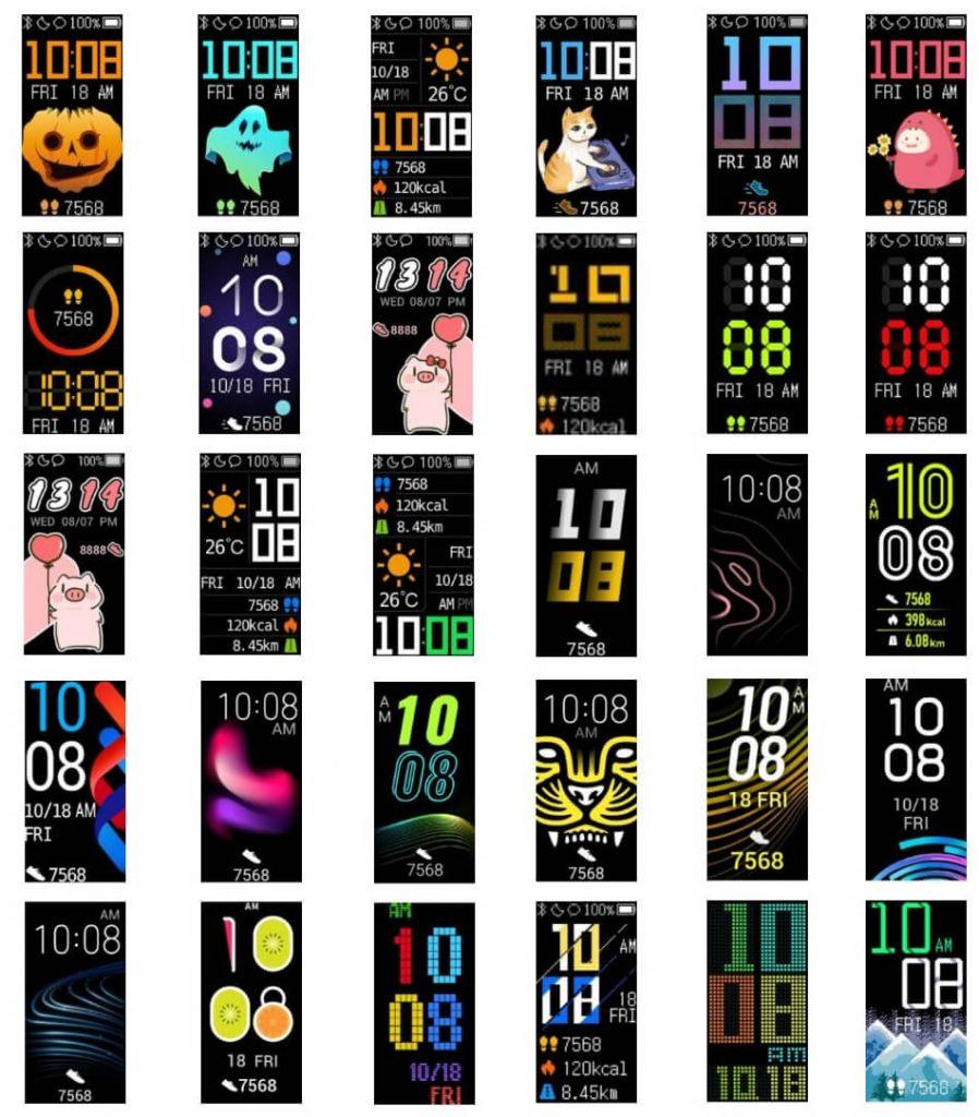 примеры циферблатов для Huawei Band 4