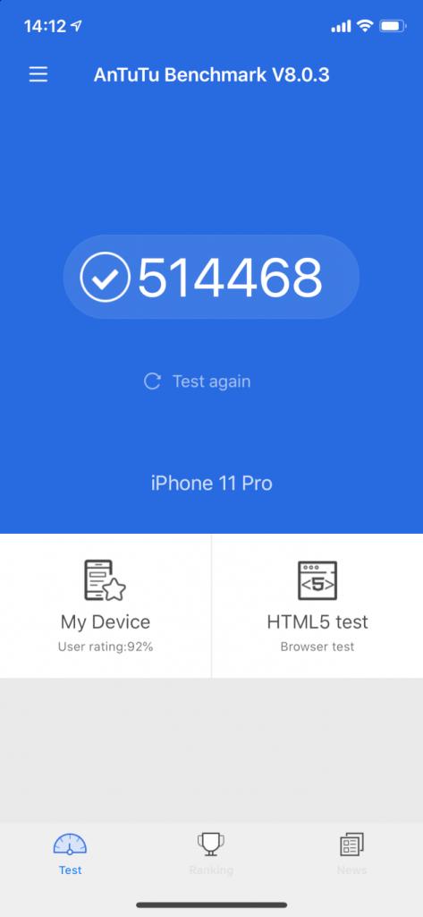 iphone 11 pro antutu