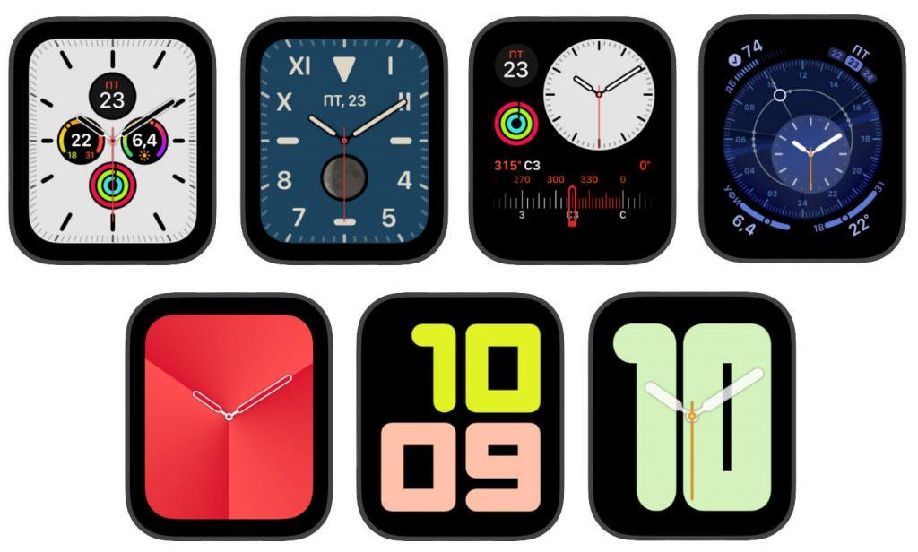 Новые циферблаты в Apple Watch 5