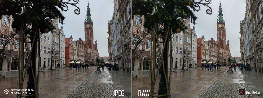 сравнение снимков в RAW и JPEG на камеру Xiaomi Mi Note 10