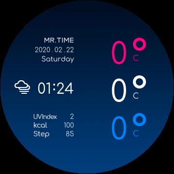 циферблат с погодой coolor для galaxy watch