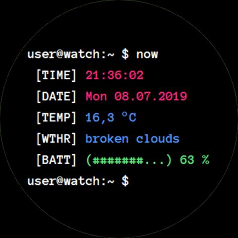 циферблат Terminal Like для Galaxy Watch Active 2