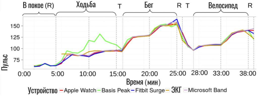 точность пульсометров в исследовании