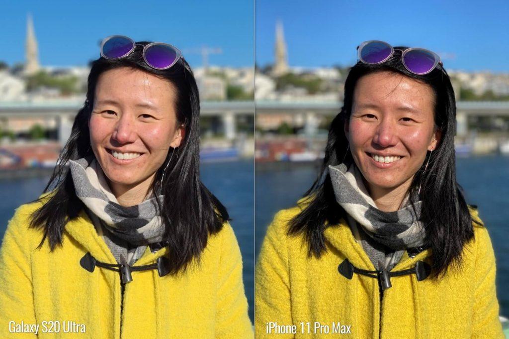 портретный режим на s20 ultra vs iphone 11 pro max