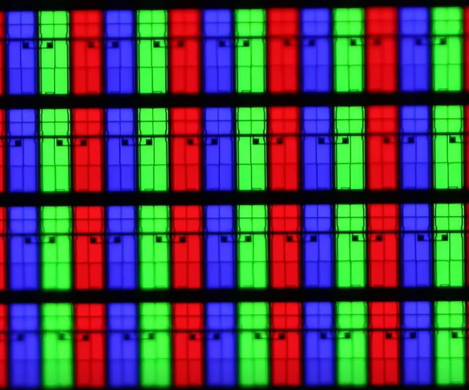 структура пикселей RGB