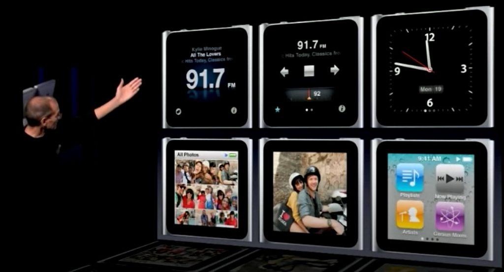 презентация ipod nano 6 с часами