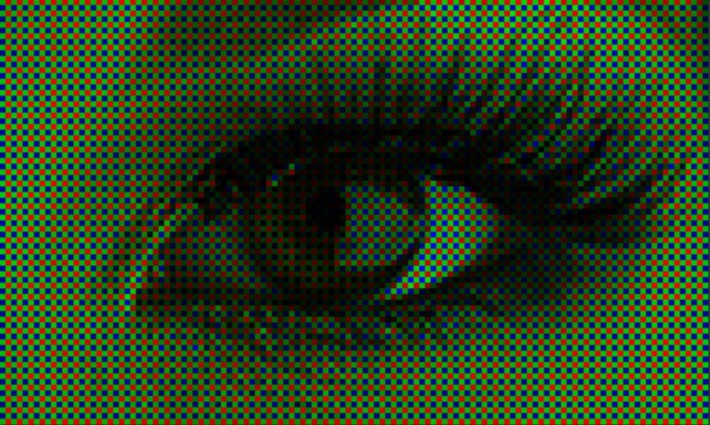 пример цветного снимка с фильтром байера