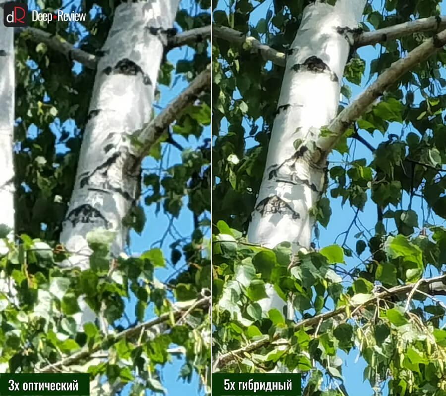 сравнение снимков оптический и гибридный зум на huawei p40