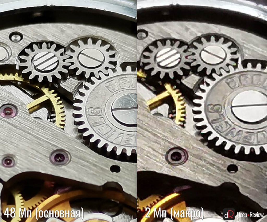 сравнение основной и макро-камеры huawei p40 lite