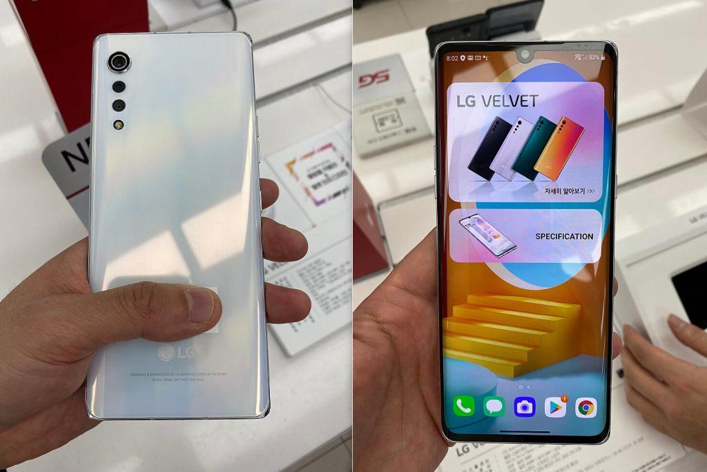 Дизайн LG Velvet в жизни