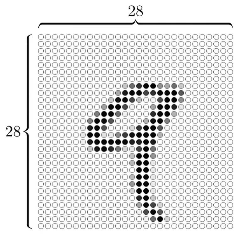 цифра 9 разбитая на отдельные пиксели