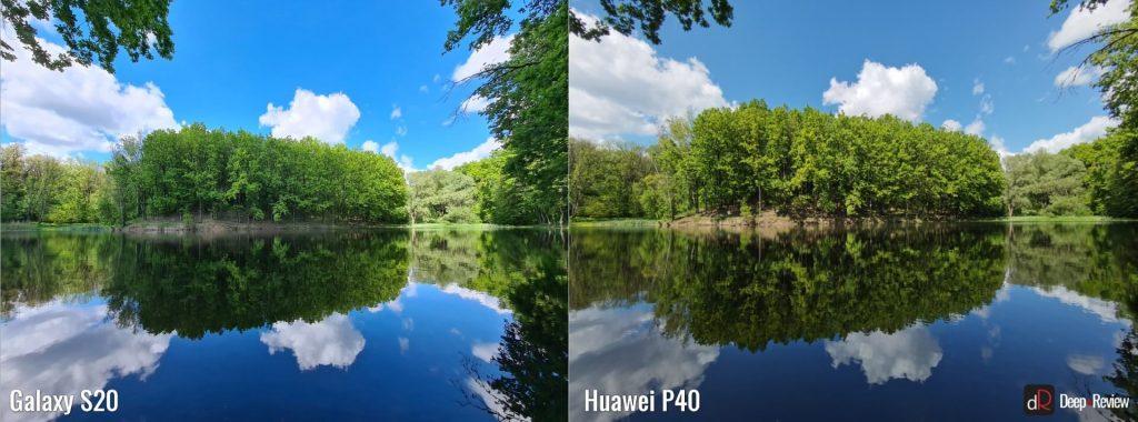 сравнение камер huawei p40 и galaxy s20 (широкий угол)