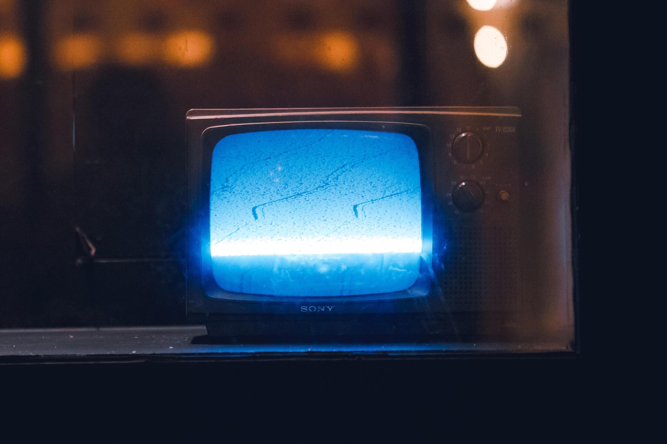 синий свет от экрана