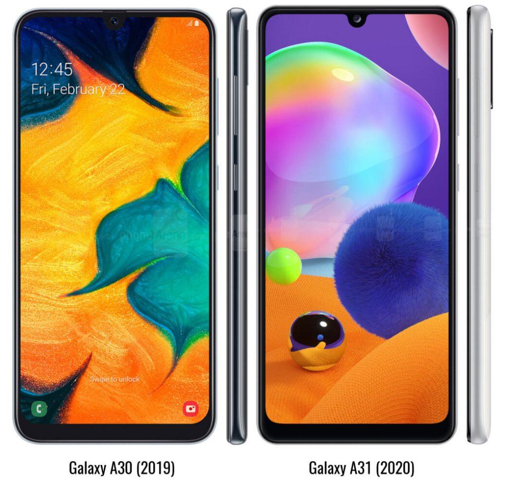 сравнение galaxy a30 и galaxy a31
