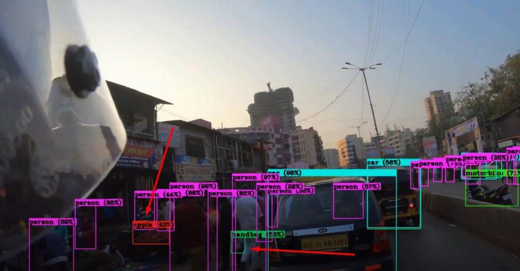 пример компьютерного зрения yolo v4
