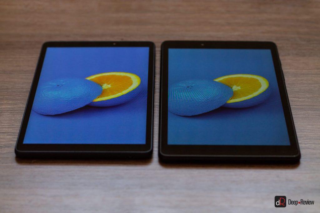 сравнение экранов под углом huawei matepad t 8 и samsung galaxy tab a 8