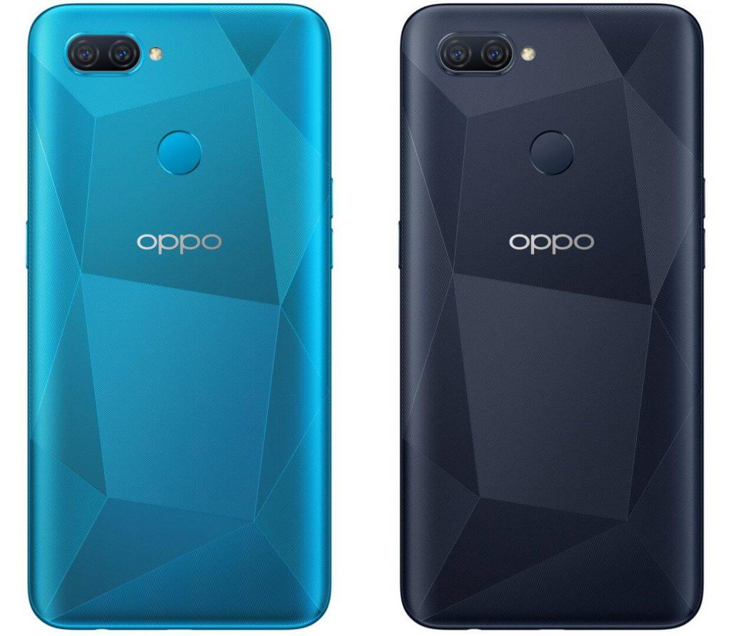 OPPO A12 в черном и синем цветах