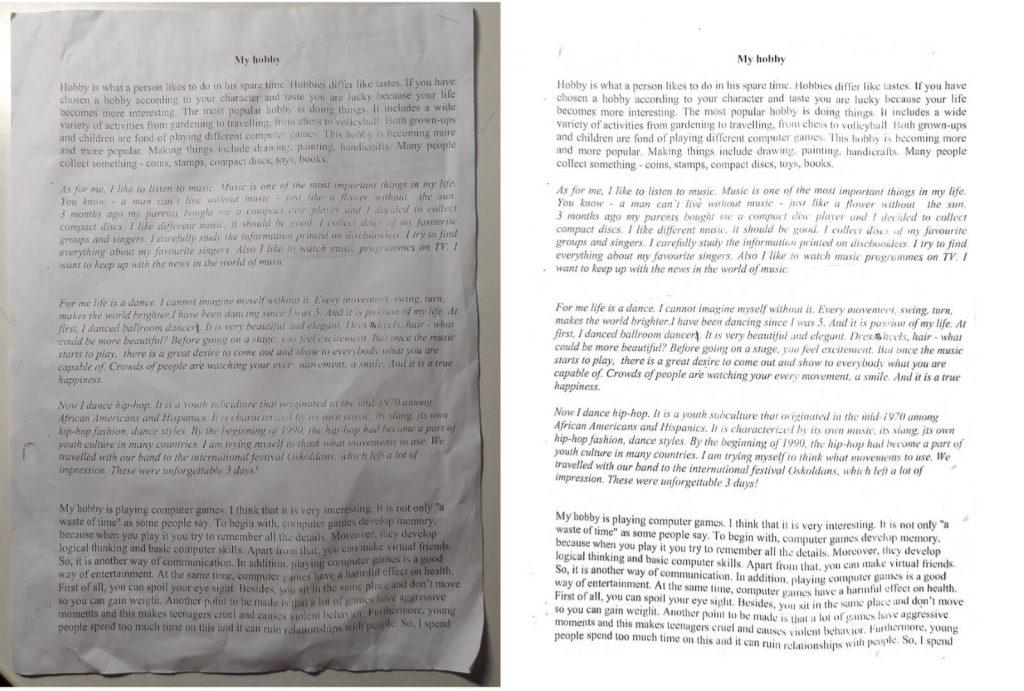 сравнение фото и скана redmi note 9 pro