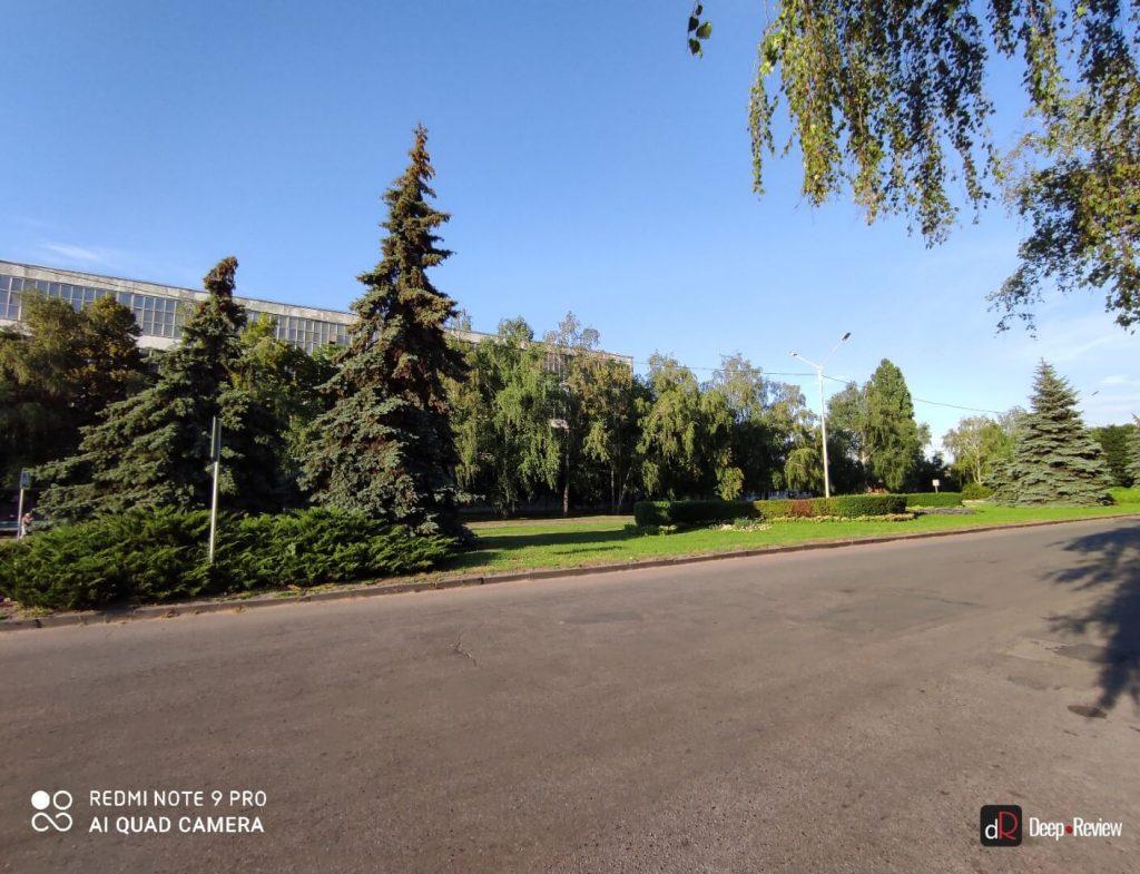 поле зрения ультраширокоугольной камеры redmi note 9 pro