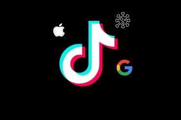логотипы Apple, TikTok и Google