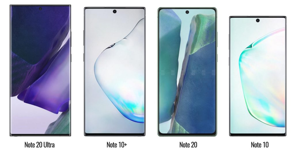 сравнение galaxy note20 ultra, note10+, note20 и note10
