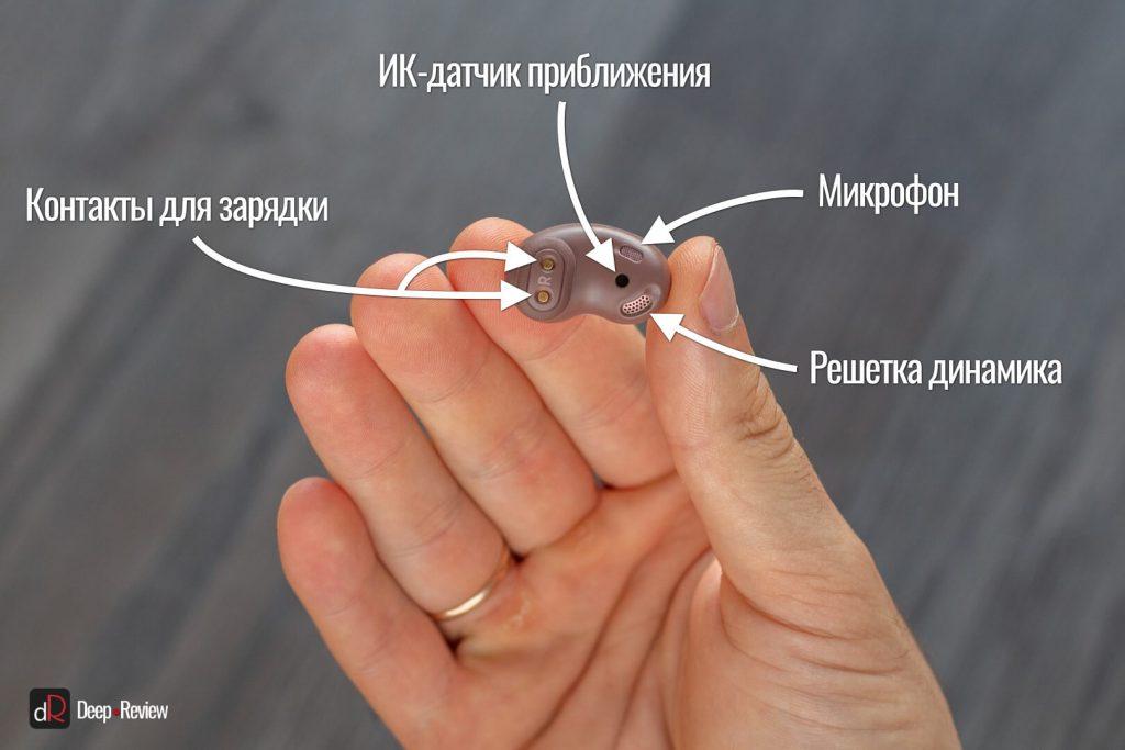 описание внутренней части наушника buds live