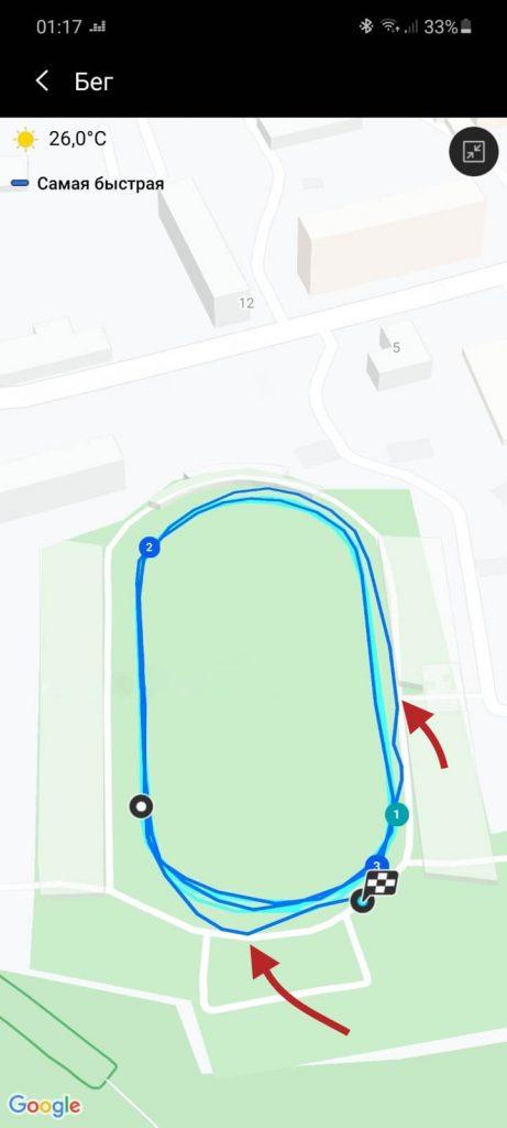 учет GPS на часах