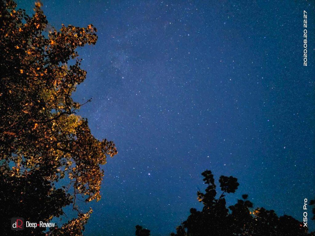 пример ночного неба, снятого на vivo x50 pro