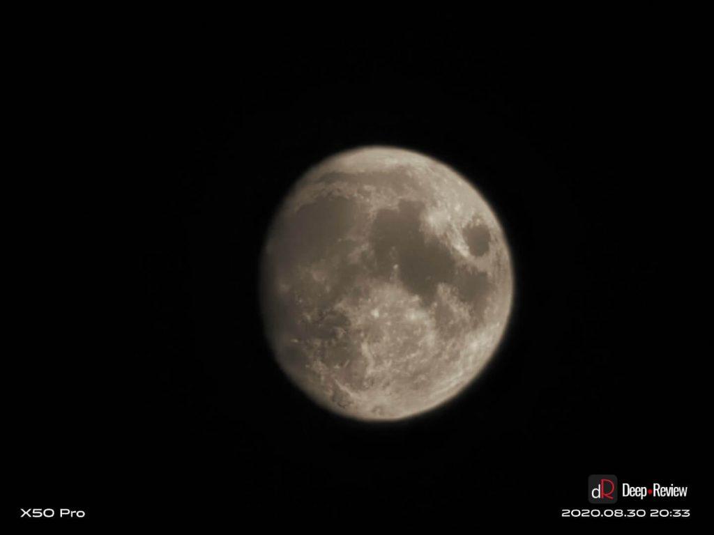 фото луны на vivo x50 pro