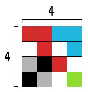 картинка 4x4 пикселя