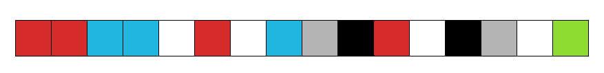 все пиксели в ряд