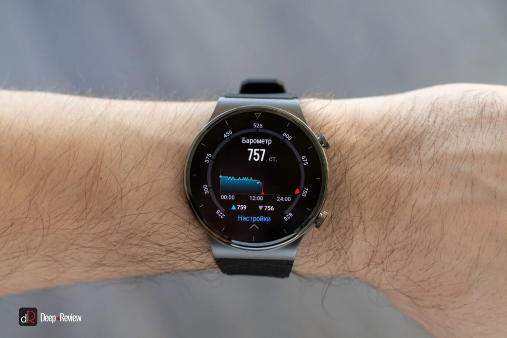 барометр на часах watch gt 2 pro