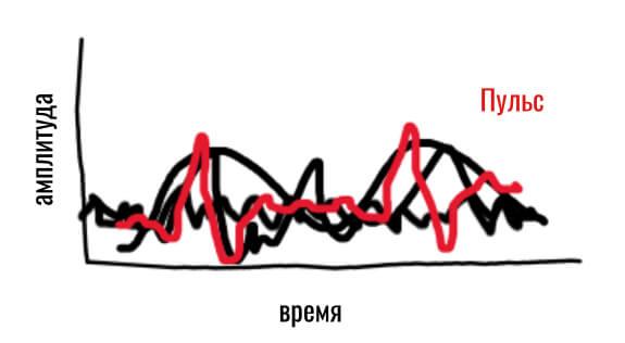 данные пульсометра браслета после фильтрации