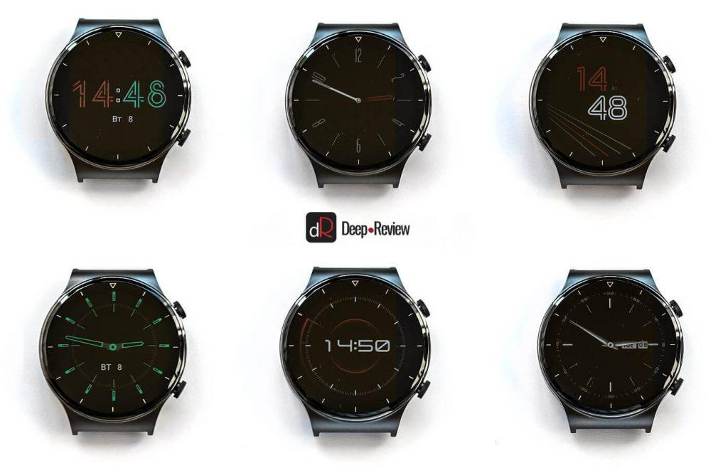 стили aod-экрана huawei watch gt 2 pro