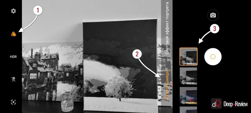 пример работы монохромной камеры vivo v20