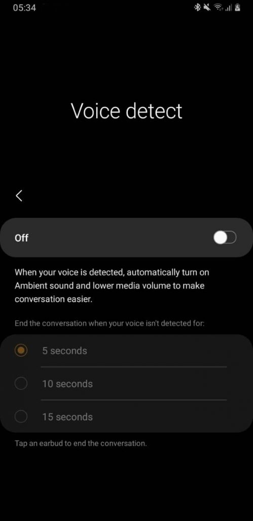 voice detect galaxy buds pro
