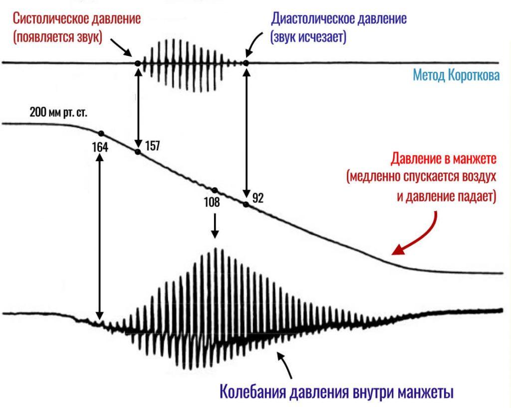 сравнение осциллометрического метода и метода короткова для измерения давления